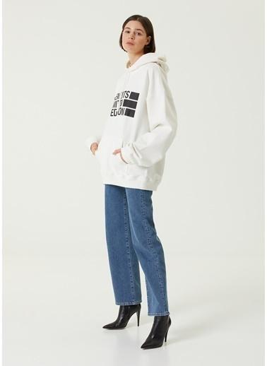 Vetements Vetements  Kapüşonlu Logolu Sweatshirt 101600736 Beyaz